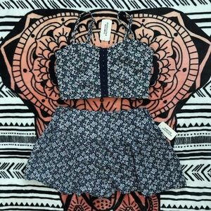 NWT Forever 21 crop top & short set